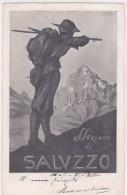CARD  ALPINI ALPINO ASSOCIAZIONE NAZIONALE ALPINI SOTTO SEZIONE DI SALUZZO FIRMATA 2 SCANNER   -FP -V-2-  0882-25242-43 - Militaria