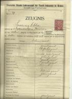 BRUNN  ( BRNO )  CZECH   --   ZEUGNIS  --  DEUTSCHE STAATS - LEHRANSTALT FUR TEXTIL - INDUSTRIE  --  1928 - Diplome Und Schulzeugnisse