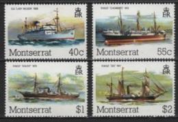 Montserrat (1980) Yv. 425/28  /  Barcos - Bateaux - Ships - Schiffe - Barche - Barche