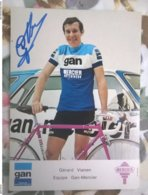 Gérard VIANEN Gan Mercier  Autographe Manuscrit - Radsport