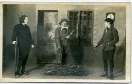Théatre - Le Médecin Malgré Lui - Souvenir De Noël 1935 - Carte Photo De LIBERGE Loué: Sarthe - Théâtre