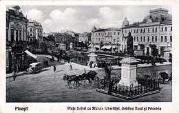 PLOESTI (Rumänien) - Plata Unirei Cu Statula Libertäfel, Grädina Noua Si Primäria, Karte 1929 - Rumänien