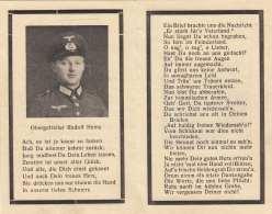 Zum Andenken An Den Tod Eines Obergefreiten, Starb Den Heldentod 1943 In Orel - 1939-45
