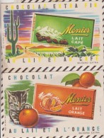 85 BUVARD Lot De 2 Buvards CHOLAT MENIER ILLUSTRATEUR HELBE  13.5 X 21 CM - Cocoa & Chocolat