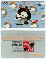 Telefonwertkarte 100 öS Wintersport Eishockey-WM 1996 Österreich Ice Hockey 96 Austria Glace Ghiaccio Weltmeisterschaft - Sport