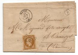 013. LAC N°13 Type2 - Càd Orange - Ecrite à Chateauneuf Du Pape (VAUCLUSE) - 1861 - 1849-1876: Période Classique