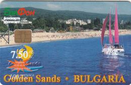 BULGARIA - Golden Sands, Bulfon Telecard 100 Units, Tirage 30000, 03/01, Sample(no CN) - Bulgaria