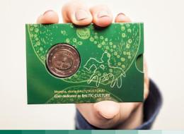 """Lithuania 2 Euro Coin 2016 """"Baltic Culture"""" BU Coin Card - Litauen"""