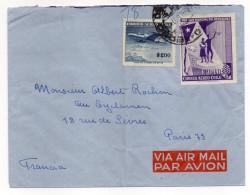 Chili--1965--Lettre SANTIAGO Pour PARIS---Composition De Timbres -cachet - Chili