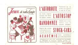 Buvard Jeux De Notre Temps L´autoroute, L'autostop, Randonnée, Stock-cars, Académic - Kids