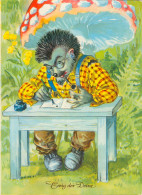 AK Igel Liebesbrief Tintenfaß Fliegenpilz Schreibtisch Erhart Neubert Hedgehog Herisson Riccio Love Letter Hérisson - Ansichtskarten