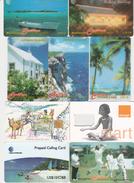 """Collection De 9  Cartes  """"  CAYMAN  ISLANDS """" - Télécartes"""
