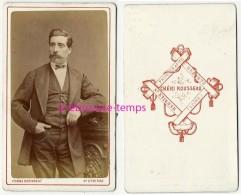CDV -homme à Fière Allure-photo Chéri Rousseau à Saint Etienne - Old (before 1900)