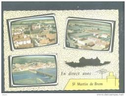 85  ST MARTIN De BREM ... MULTIVUE .. Eglise , Colonie , Port De La Gachere..1969 - Frankrijk