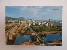 SPAIN ESPAÑA ESPANA ESPAGNE GALICIA ORENSE PARTIAL VIEW 1960 YEARS POSTCARD - Orense