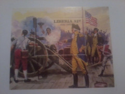 LIBERIA SHEET AMERICAN WAR GUERRA AMERICANA - Unabhängigkeit USA