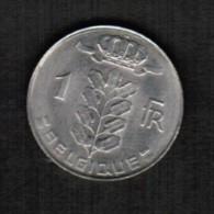 BELGIUM  1 FRANC (FRENCH) 1973 (KM #142.1) - 1951-1993: Baudouin I