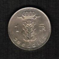 BELGIUM  1 FRANC (DUTCH) 1975 (KM #143.1) - 1951-1993: Baudouin I