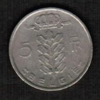 BELGIUM  5 FRANCS (DUTCH) 1949 (KM #135.1) - 1945-1951: Regency