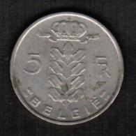 BELGIUM  5 FRANCS (DUTCH) 1974 (KM #135.1) - 05. 5 Francs