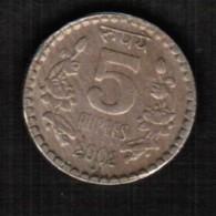 INDIA   5 RUPEES 2002 (KM #154.1) - India