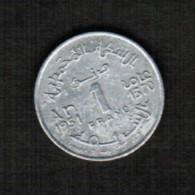 MOROCCO   1 FRANC 1951 (AH 1370) (Y # 46) - Morocco
