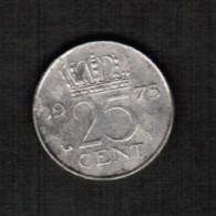 NETHERLANDS   25 CENTS 1973 (KM # 183) - 1948-1980 : Juliana