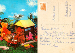 AK Teddy Teddybär Teds Workshop Spielzeug Ungarn Hungary Stofftier Plüschtier Magyarország Braunbär Orso Bruno Bear - Spielzeug & Spiele