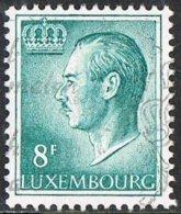 Luxembourg SG765ca 1974 Definitive 8f Granite Paper Good/fine Used - Luxemburg