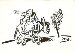 """AK Wilhelm-Busch """"Zur Mühle"""" Ebergötzen Esel Asino Donkey Ane Müller Zeichnung âne Ansichtskarte Postkarte - Comicfiguren"""