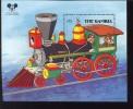 MINT NEVER HINGED SOUVENIR SHEET OF DISNEY  TRAIN ; HISTORIC LOCOMOTIVES    #  148-2  (   GAMBIA   718 - Disney