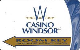 Casino Windsor Canada - Room Key Card - Hotel Keycards