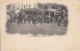 Pnom-Penh - Enterrement Chinois Cambodge Cambodia Indochine Chinese Funeral Indochina Asie