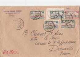 EGYPTE LETTRE AVION LE CAIRE 19/7/1938 POUR FRANCE DEAUVILLE                                 TDA105 - Poste Aérienne