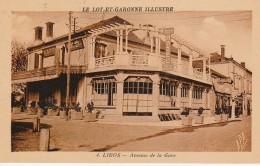 47 - LIBOS - Le Lot Et Garinne Illustré - Avenue De La Gare - Libos