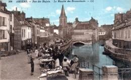 80 Amiens Rue Des Majots Le Marché Des Brocanteurs 1928 - Amiens