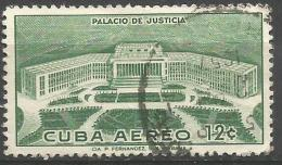 Cuba - 1957 Palace Of Justice 12c Used   Sc C167 - Airmail