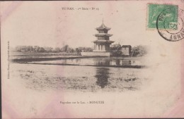 INDOCHINE VIET NAM  CACHET PHANTIET ANNAM 1908  SUR CPA  CHINE PAGODON  YU NAN  Réf  2987 - Cina