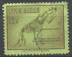Cuba - 1958 Carlos De La Torre 12c Used   Sc C183 - Airmail