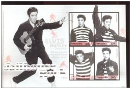 TANZANIA SHEET ELVIS PRESLEY ACTOR SINGER CINEMA - Elvis Presley