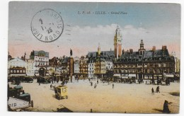 (RECTO / VERSO) LILLE EN 1925 - N° 28 - GRAND' PLACE - BEAU CACHET - CPA - Lille