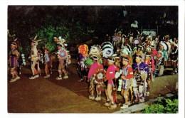 34857 (2 Scans ) Winnebago Snake Dance Stand Rock Indian Ceremonial Wisconsin Dells - Indiens De L'Amerique Du Nord
