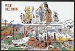 Belgium**EUROPA CEPT 2012-TINTIN ROCKET To The MOON-Sheet 2vals-VISIT BELGIUM-Brugge-Ghent - Belgium