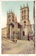 CPA  Montpellier La Cathédrale (animée) H1115 - Montpellier