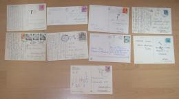 Italien Italy 1958-84  9 Postcards With Postage Due - Colecciones
