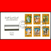 LIBYA - 1975 Tripoli Fair Folklore Costumes Heritage (FDC) - Libya