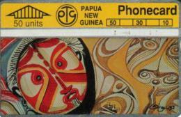 PAPUA NEW GUINEA 50 U NATIVE ART MASKS PNG-026 L & G CODE:301B CV.$15US READ DESCRIPTION !!