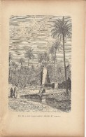 Une Oasis Dans Le Désert Du Sahara 1892 - Prints & Engravings