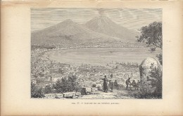 Naples Napoli Et Le Vésuve 1892 - Estampes & Gravures