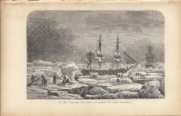 Navires Pris Dans Les Glaces Des Mers Arctiques - Bateau Expédition   1892 - Prints & Engravings